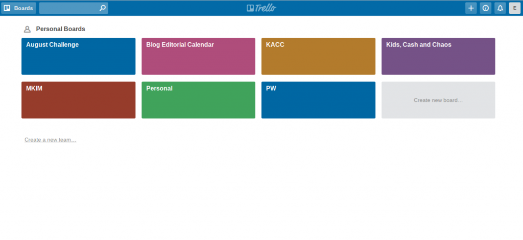 Use Trello to making lists