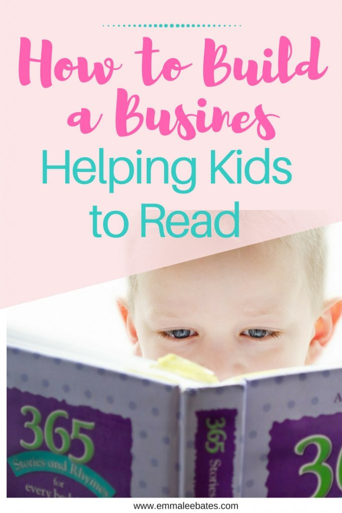 how to build a business helping kids to read