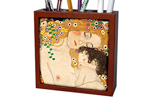 Mother and Child Pen Holder