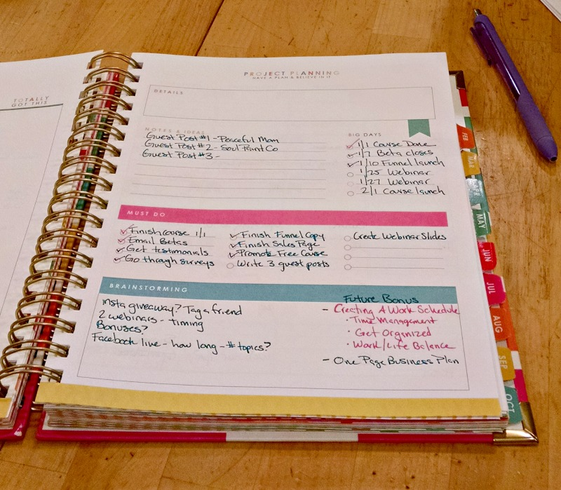 Living Well Planner Review - Project Management Pages
