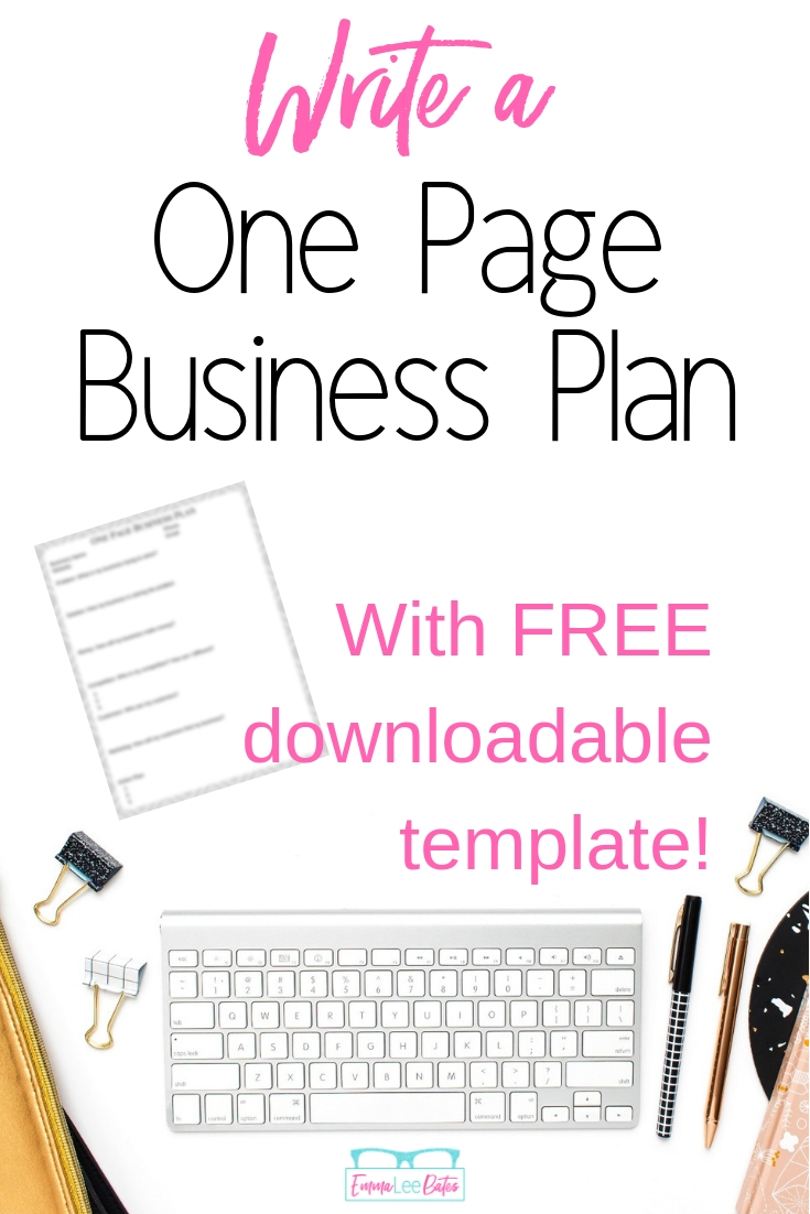 Don't start a business with out a plan! Create a simple, one page business plan in just a few hours with these step by step directions and business plan template. #smallbiz