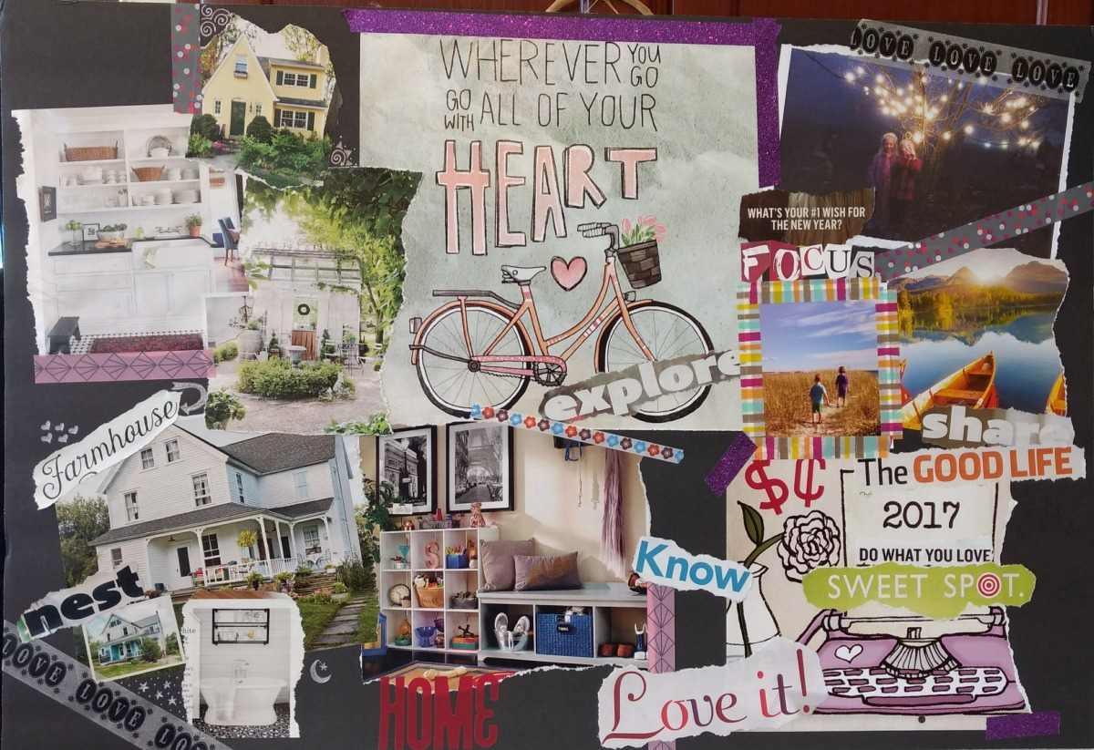 Creating a vision board examples