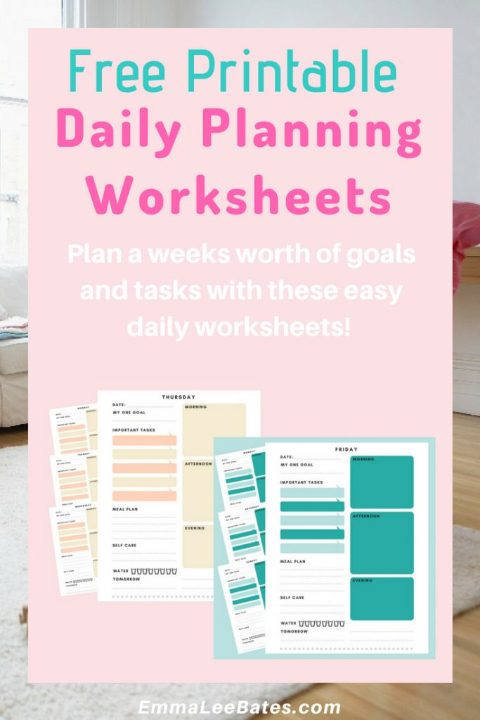 Weekly Goal Setting Worksheets For Busy Moms Emma Lee Bates. Grab These Free Goal Setting Worksheets And Plan Out Your Whole Week Ahead Of Time. Worksheet. Daily Goals Worksheet At Clickcart.co