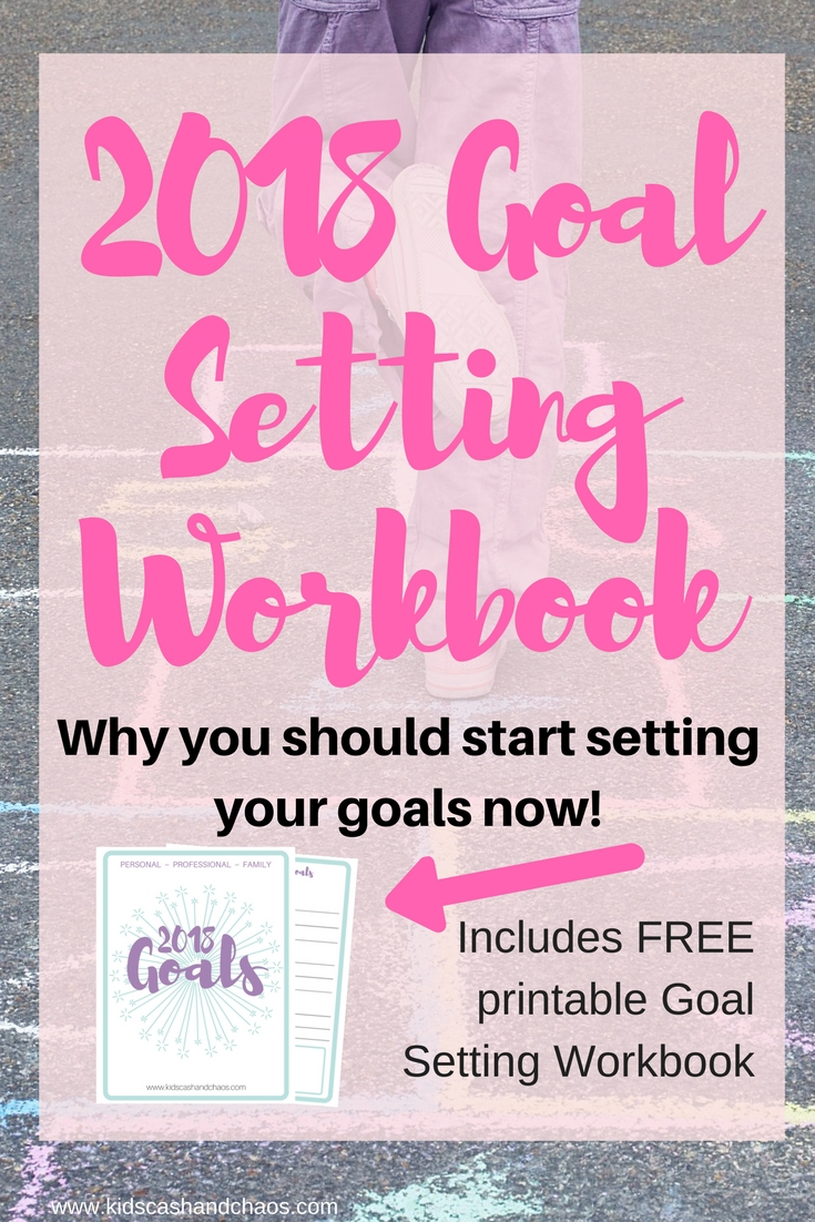 Grab your 2018 Goal Setting Workbook and set BIG goals for the year! Break them down by yearly goals, quarterly goals, and monthly goals. #goals #goalsetting #planner
