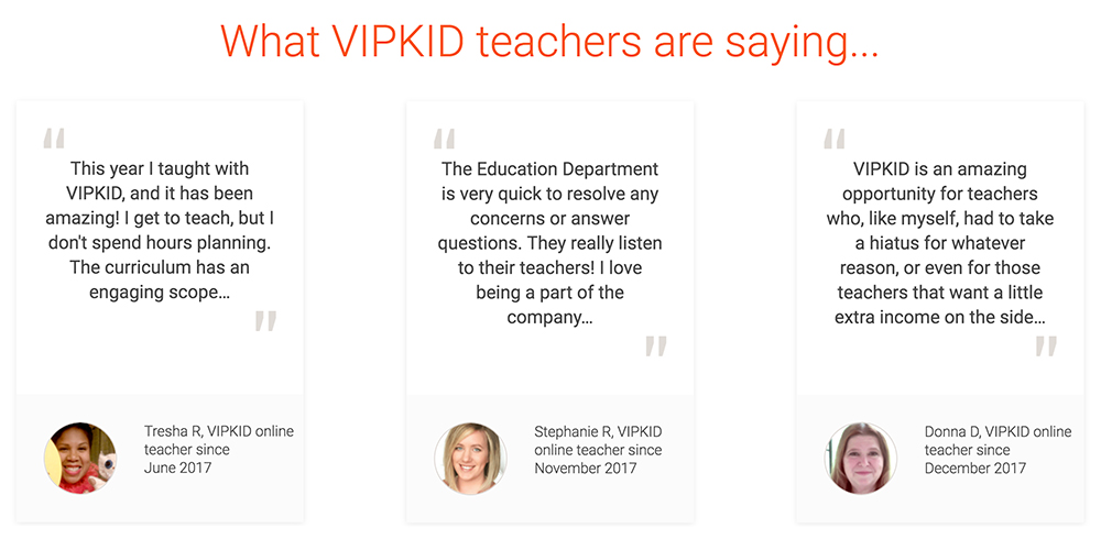 vipkid teacher quotes