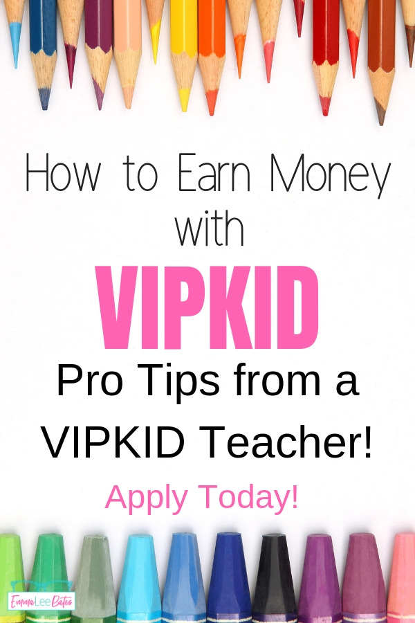 Want to earn extra money from home? Apply to be a VIPKID teacher and teach English to kids from China! #workfromhome #makemoneyonline