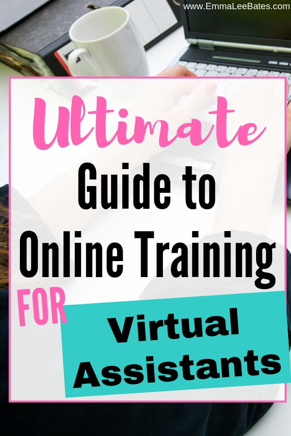 Looking for training for virtual assistants? Look no further! This is the ultimate list of VA courses, skill courses and business courses to get you set in your new VA business. #virtualassistant #VA #onlinetraining #courses