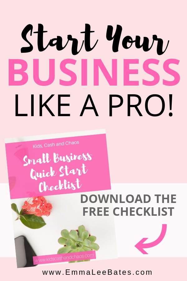 Got the perfect business idea? Grab your free start a business checklist and make sure you are doing all the steps needed to get your business off the ground! #smallbiz #startabiz #freeprintable