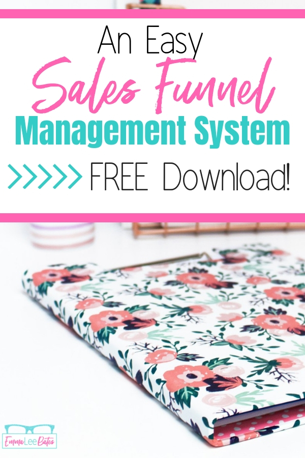 Stop losing pieces of your sales funnel! Grab this free sales funnel management system and keep track of every landing page, email sequence and freebie! #salesfunnels #funnelmanagement