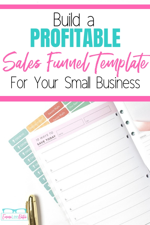 Ready to make your first sales funnel? Check this out to find out how to create a profitable sales funnel template for your business! #salesfunnel #smallbiz