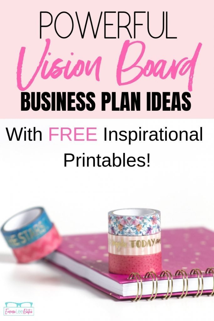 Have you made a vision board for your business? Check out these amazing vision board business plan ideas and get started with the free inspirational printables. #smallbiz #visionboard