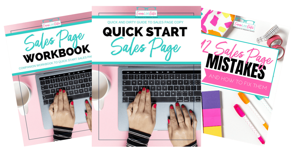 Quick Start Sales Page Bundle Covers