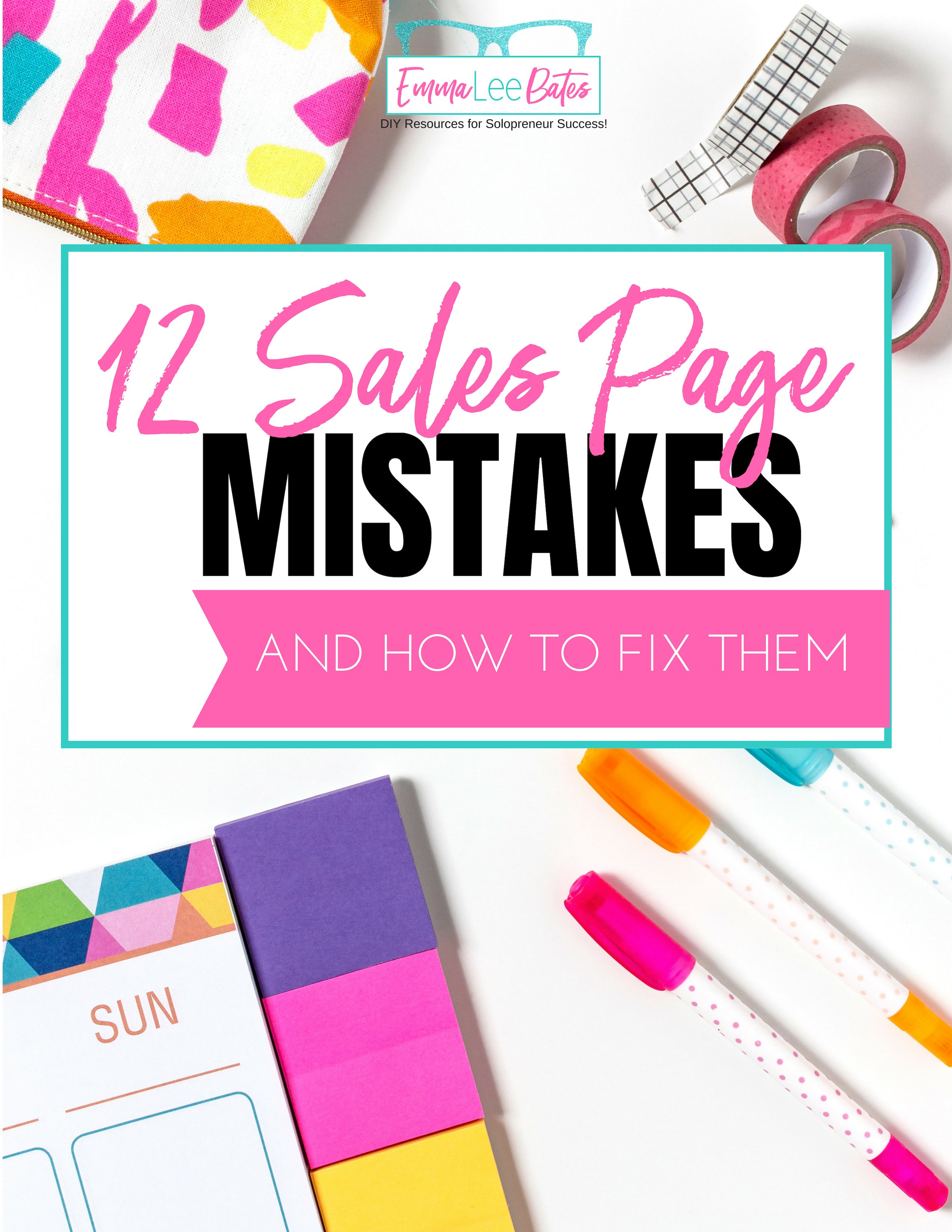 12 Sales Page Mistakes