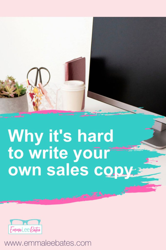 Why it's hard to write your own sales copy and what you should do instead for better conversions.